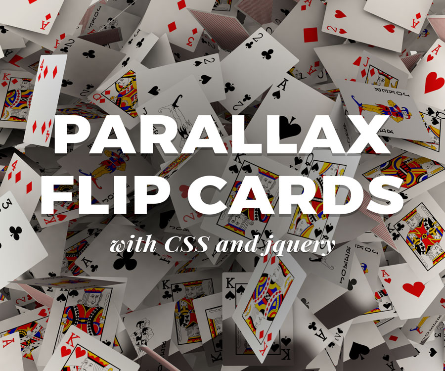 Parallax Flip Cards Using jQuery and CSS | Pixel Brew