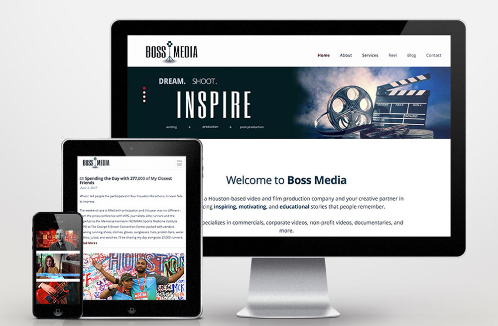 Boss Media Responsive Website